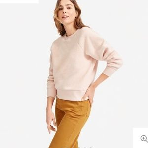 Everlane The ReNew Fleece Raglan Sweatshirt - Pink